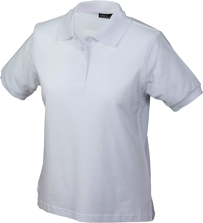 Strapazierf/ähiges klassisches Damen Poloshirt Farbe:white;Gr/ö/ße:XXL