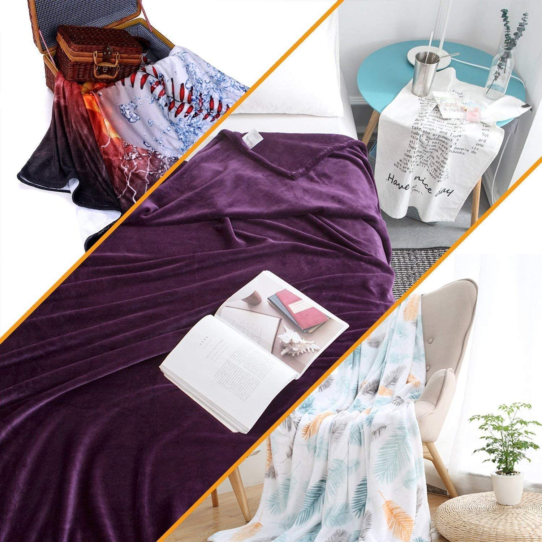 Xaviera Couverture Polaire en Flanelle imperm/éable color/ée pour la Vie Aquatique L/ég/ère et Confortable en Microfibre 30x40inch Color01