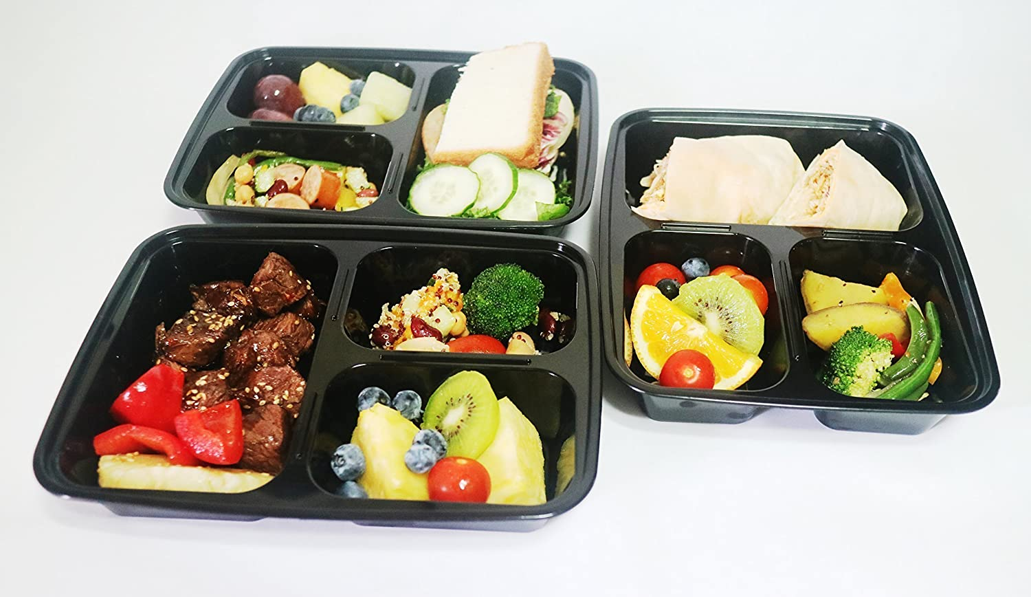 14 Pack 3 Compartment Meal Pre...