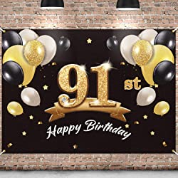 Happy 91st Birthday Banner/Photo Backdrop