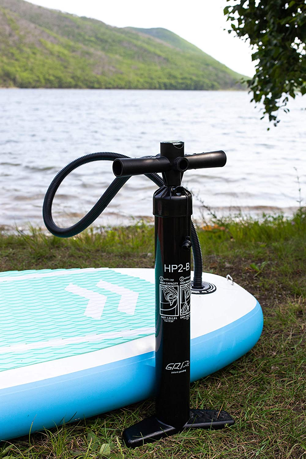 for Inflatable Stand Up Paddle Boards Hose and Air Valve Adapter JLF for 9 10 11 12 SUP Packages 20 psi Dual Action Hand Pump with Pressure Gauge 15 psi Inflate 12 psi