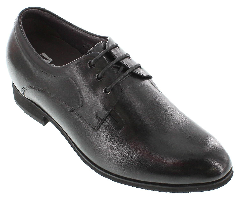 Toto – x33011–7,6 cm Grande Taille – Hauteur AugHommester Chaussures ascenseur (Noir à Lacets Ultra Léger)