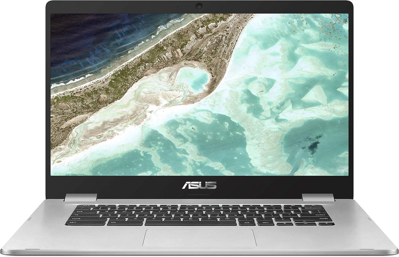 "Asus C523NA Chromebook 15.6"" FHD Laptop Computer_ Intel Celeron N3350 up to 2.4GHz_ 4GB DDR4 RAM_ 64GB eMMC_ 802.11ac WiFi_ Bluetooth_ USB 3.1_ Webcam_ Online Class Ready_ Chrome OS_ BROAGE Mousepad"