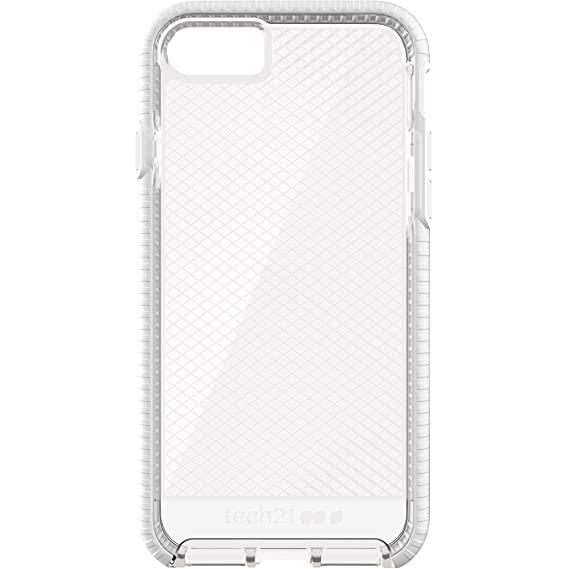 sale retailer f2b4f ba1e4 Tech 21 T21-5330 Evo Check Case with FlexShock for Apple iPhone 7 -  Clear/White