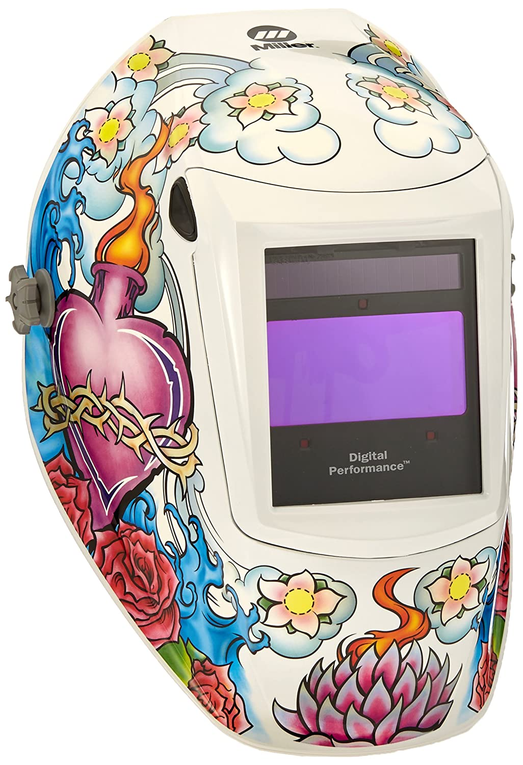 Auto Darkening Welding Helmet, White, Digital Performance, 8 to 13 Lens Shade by Miller Electric  B008E37K76