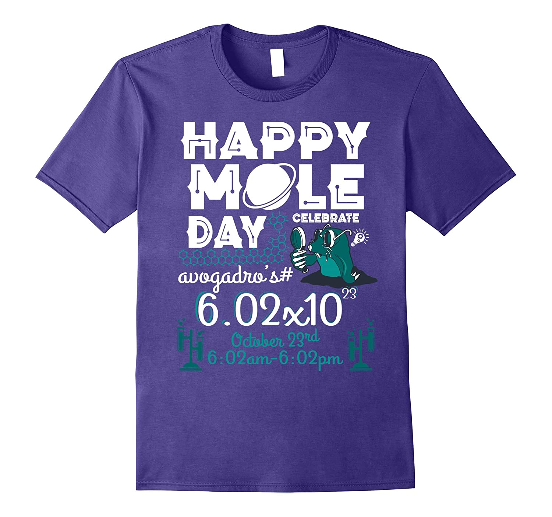 Happy Mole Day T-Shirt on 23rd Oct Funny Chemist T-Shirt-T-Shirt
