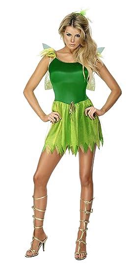 Smiffys Smiffys- Disfraz de Hada de los bosques, Verde, con ...