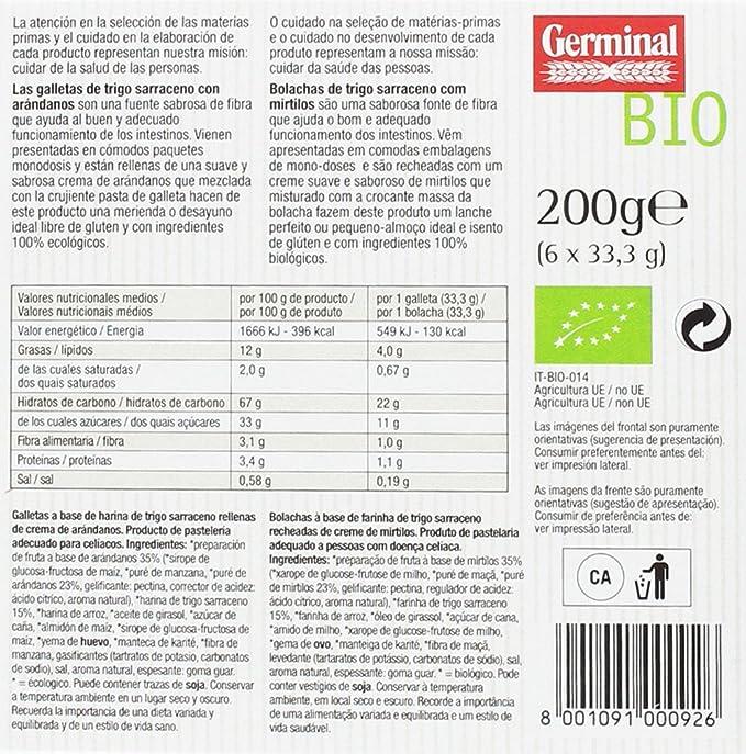 Germinal Galletas Sin Gluten de Trigo Sarraceno con Arándanos ...