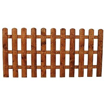 3ft x 6ft round top picket fencing panel amazon co uk garden