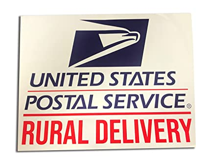 Safety Supply Mart Rural Delivery Vinyl Sign for US Mail, 9