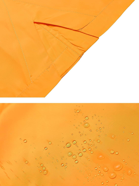 Beyove Damen Regenjacke Regenmantel Windjacke mit Kapuze Tasche Funktionsjacke Regenparka Wasserdicht Atmungsaktiv