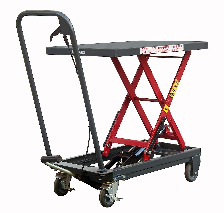 Pake Handling Tools Sturdy Hydraulic Manual Stable Scissor Lawn Mower 500lbs Lift Table