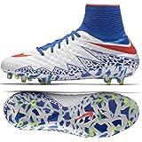 Nike Women's Hypervenom Phantom II FG White/Bright Crimson/Racer Blue Soccer Shoes