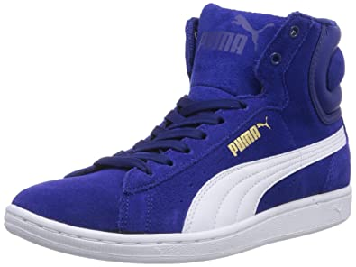 puma high tops womens. puma vikky mid, womens trainers, blue (clematis blue/white 06), high tops