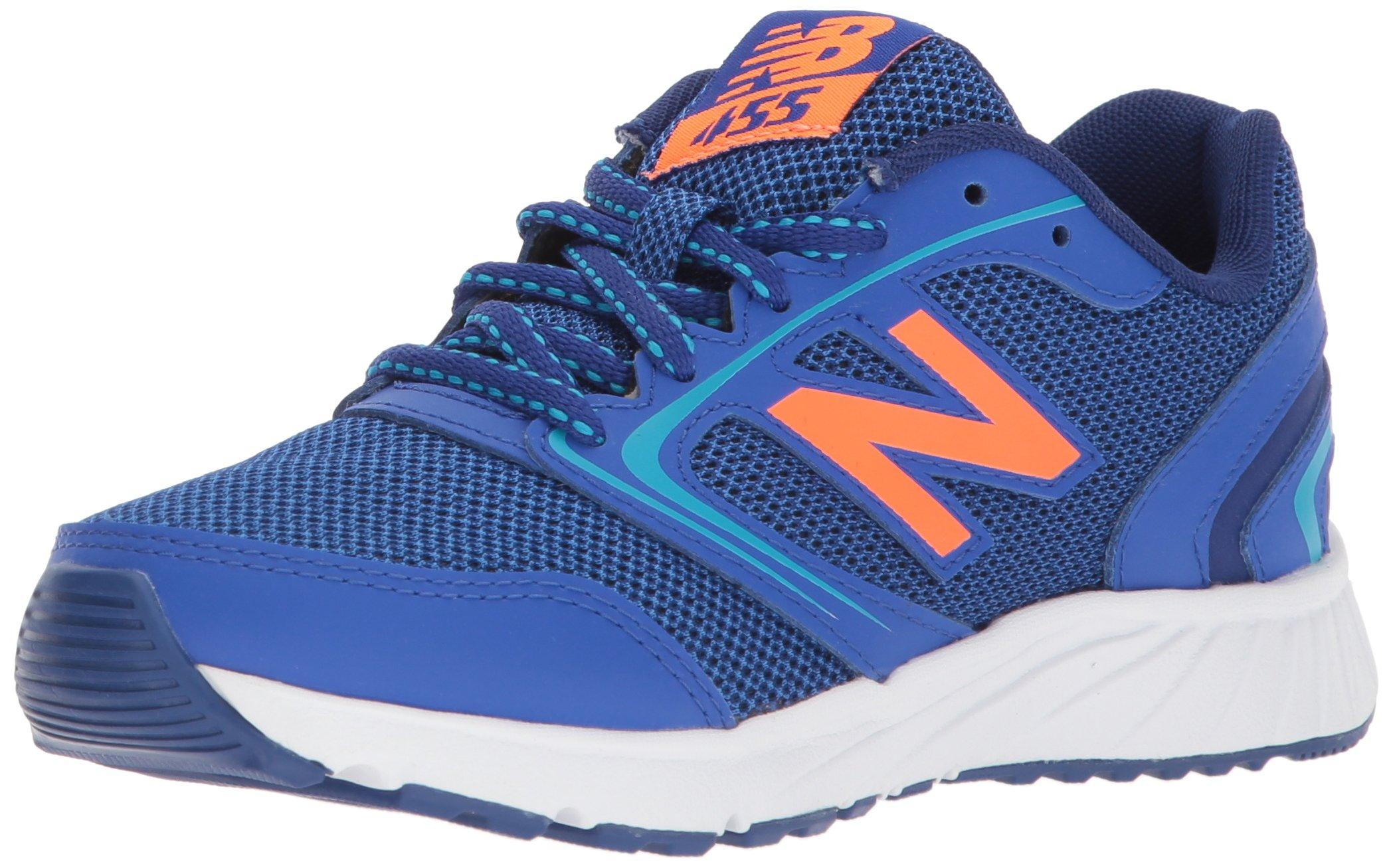 New Balance Boys' 455v1 Running Shoe, Pacific/Dynomite, 1.5 W US Little Kid