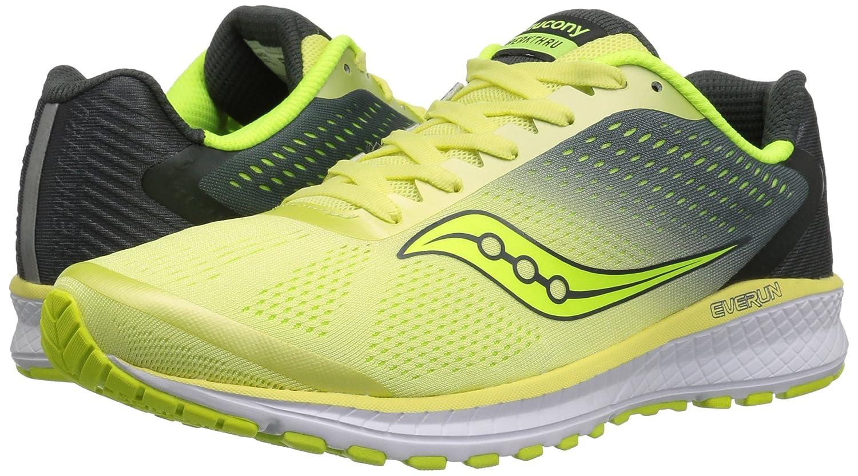 Saucony Women's B071WM6XS1 Breakthru 4 Running Shoe B071WM6XS1 Women's 10 B(M) US|Lime/Grey 3e3fc4