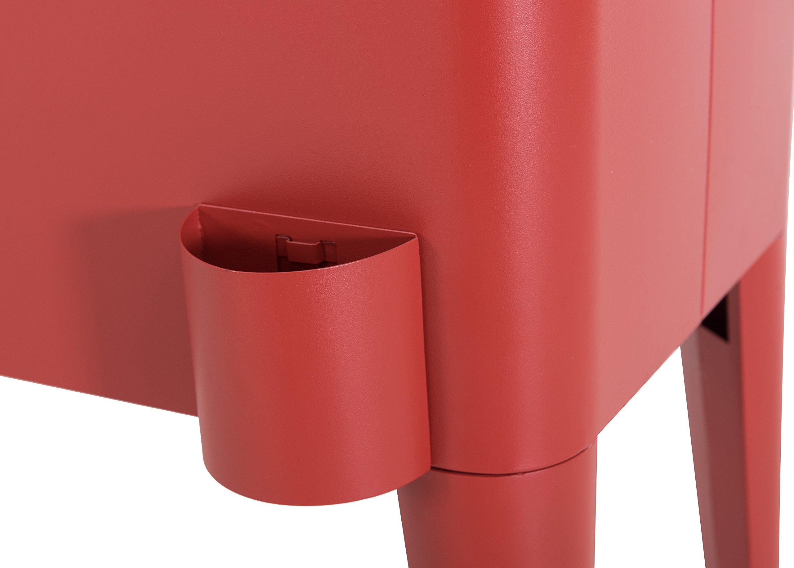 Sunjoy L-BC153PST 60 quart Wheeled Beverage Cooler in Red by sunjoy (Image #10)