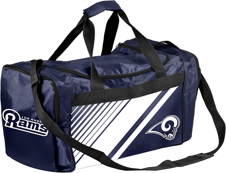 Los Angeles Rams Border Stripe Duffle Bag