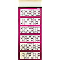 Tefarah Decor TAMBOLA Tickets Set for Ladies Kitty/Picnic/Festival (RED Color) 600 Tickets