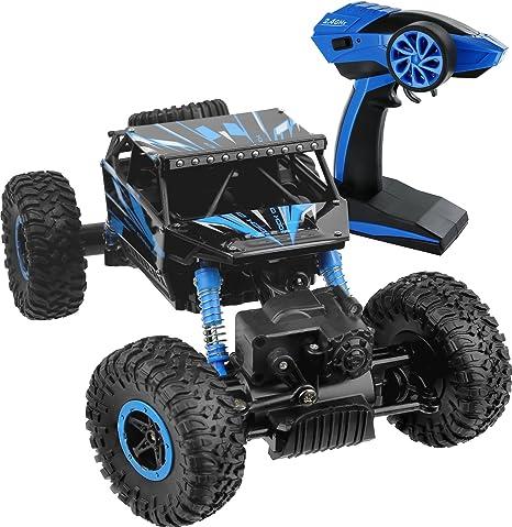 Remote Control Cars >> Amazon Com Click N Play Remote Control Car 4wd Off Road Rock