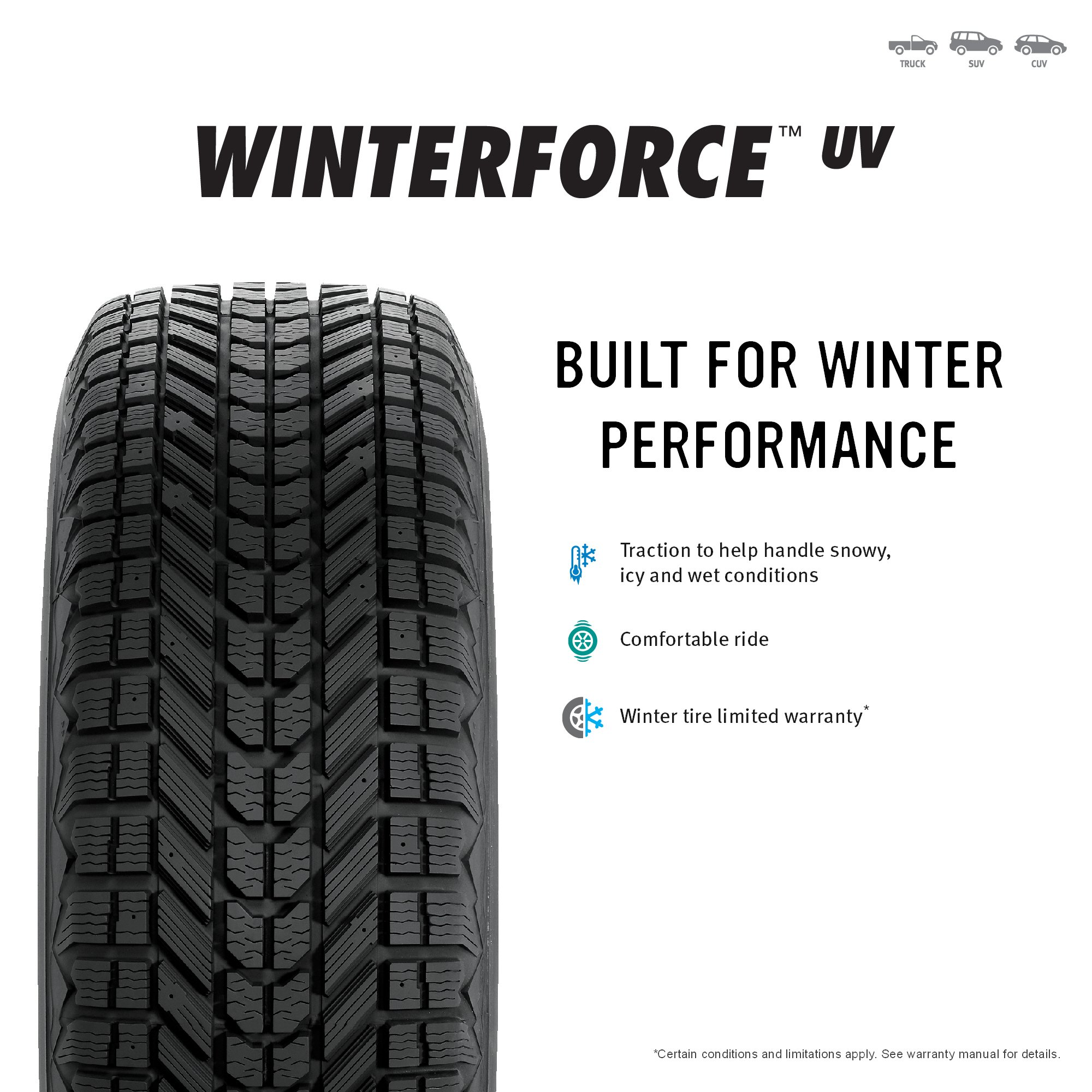 Firestone Winterforce UV Winter Radial Tire - 235/65R17 103S