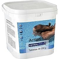 Astralpool - Action-10 Desinfectante Con Cloro Multiac. 5 Kg 250Gr - Formato Cuadrado