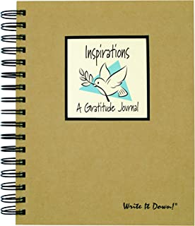 product image for Inspirations, A Gratitude Journal - Kraft Hard Cover (prompts on every page, recycled paper, read more...)