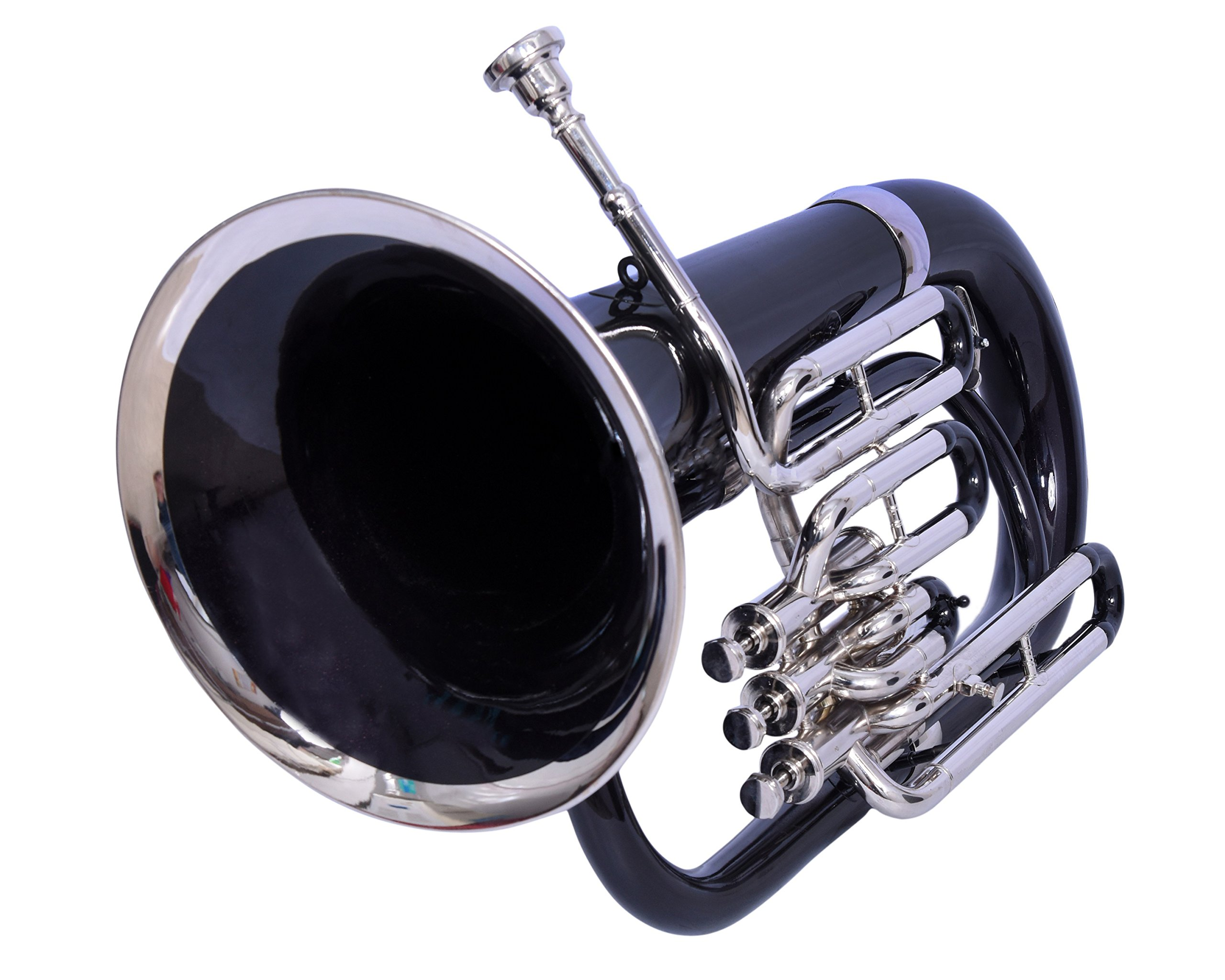 Nasir Ali Euphonium Black lacquered and Brass polished Bb 3 valve with hard case by NASIR ALI