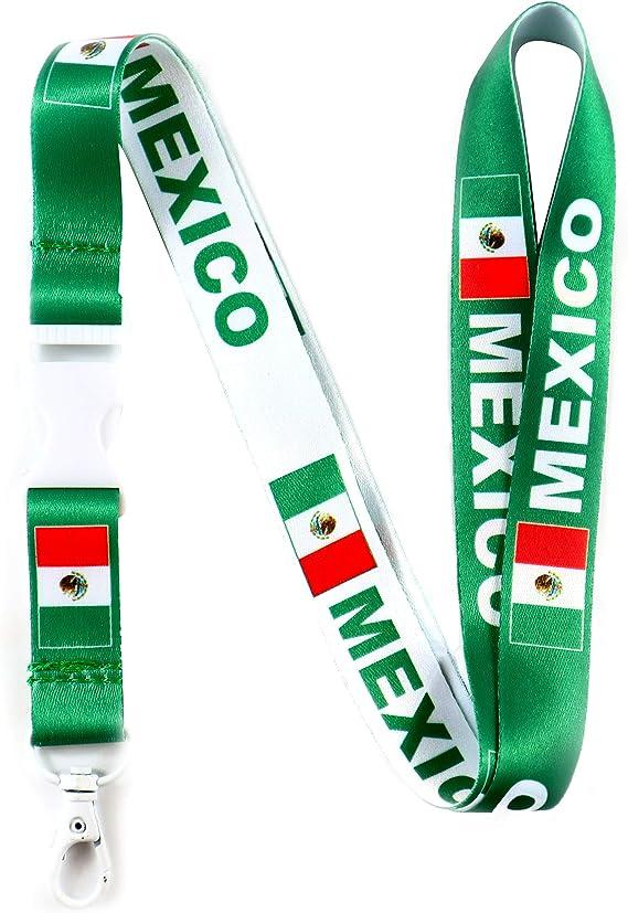USA Mexico Neck Strap Lanyard Keychain ID Holder for Keys Badge Fob USB