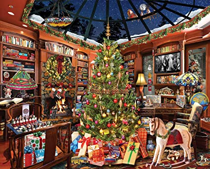 Mountain Christmas.White Mountain Puzzles Christmas Seek Find 1000piece Jigsaw Puzzle