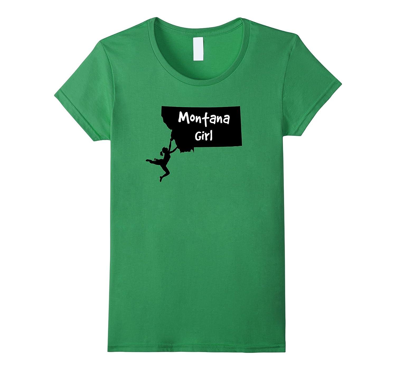 I Love Montana Outdoors Girl's Rock Climbing T-Shirt