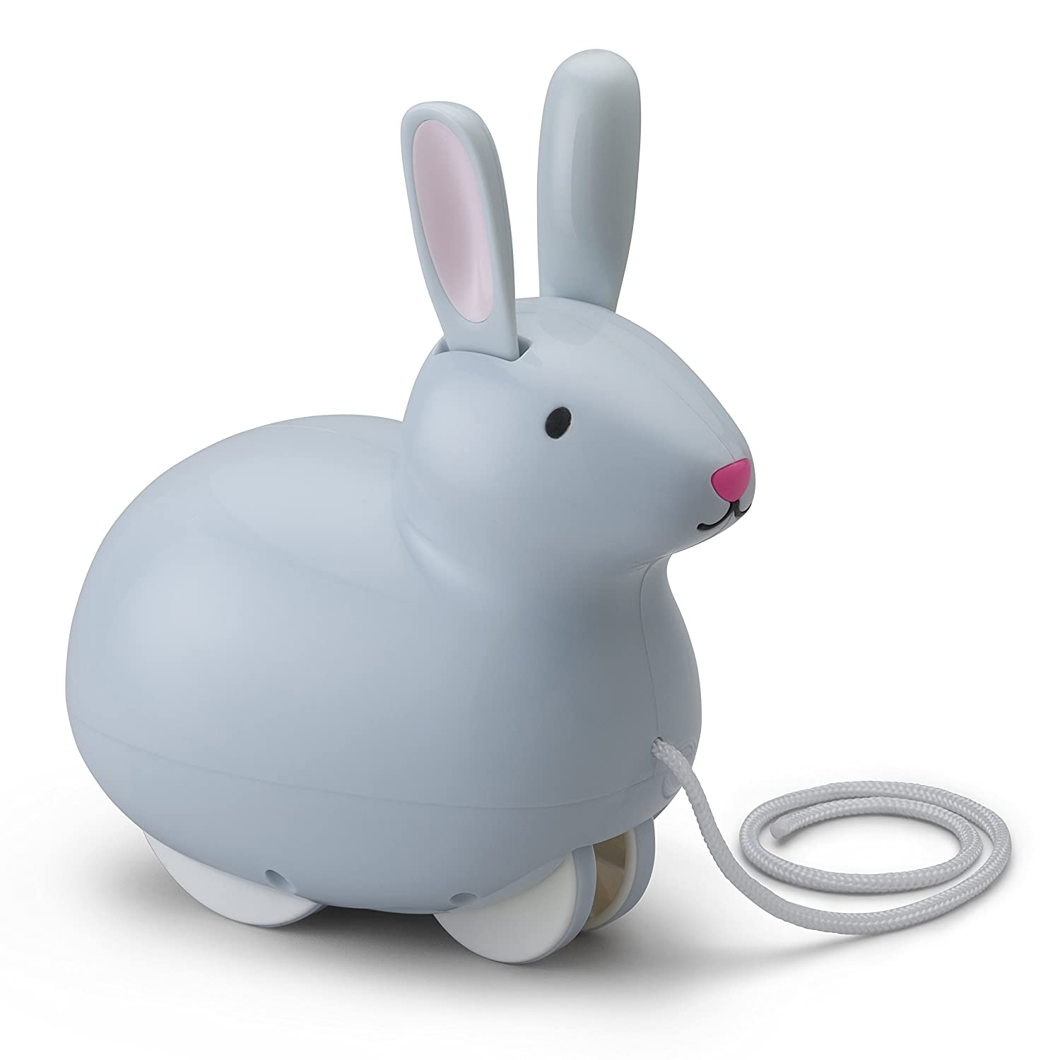 Kid O Pull and Hop Bunny Toddler Pull and Push Toy