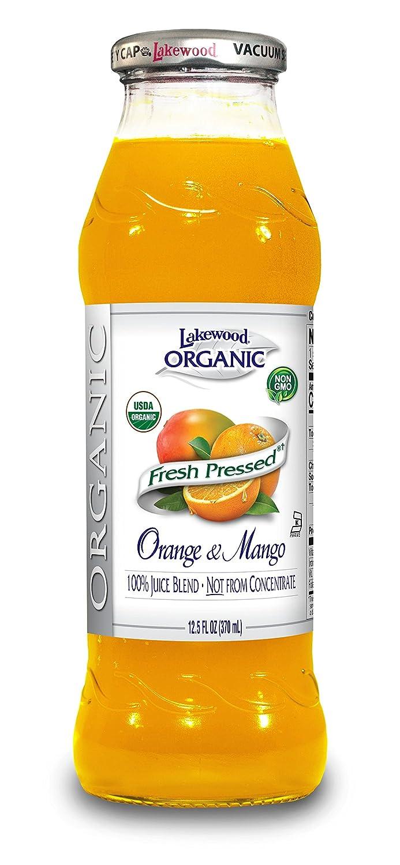 Lakewood Organic Orange Mango Juice, 12.5-Ounce Bottles (Pack of 12)