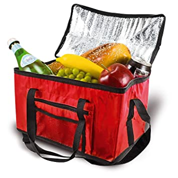 db943c8b739d Parkland® Extra Large 26L Cooler Cool Bag Box Picnic Camping Food Drink  Lunch Festival Ice, Fabric, Red, 26 Litre
