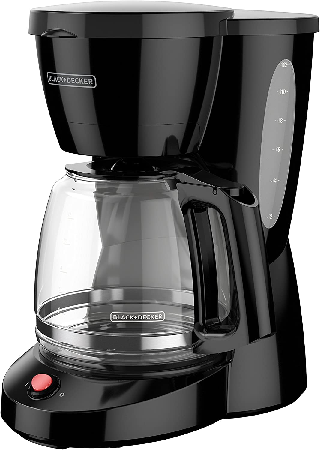 BLACK+DECKER 12-Cup Switch Coffee Maker, Duralife Glass Carafe, Black, CM0940BD
