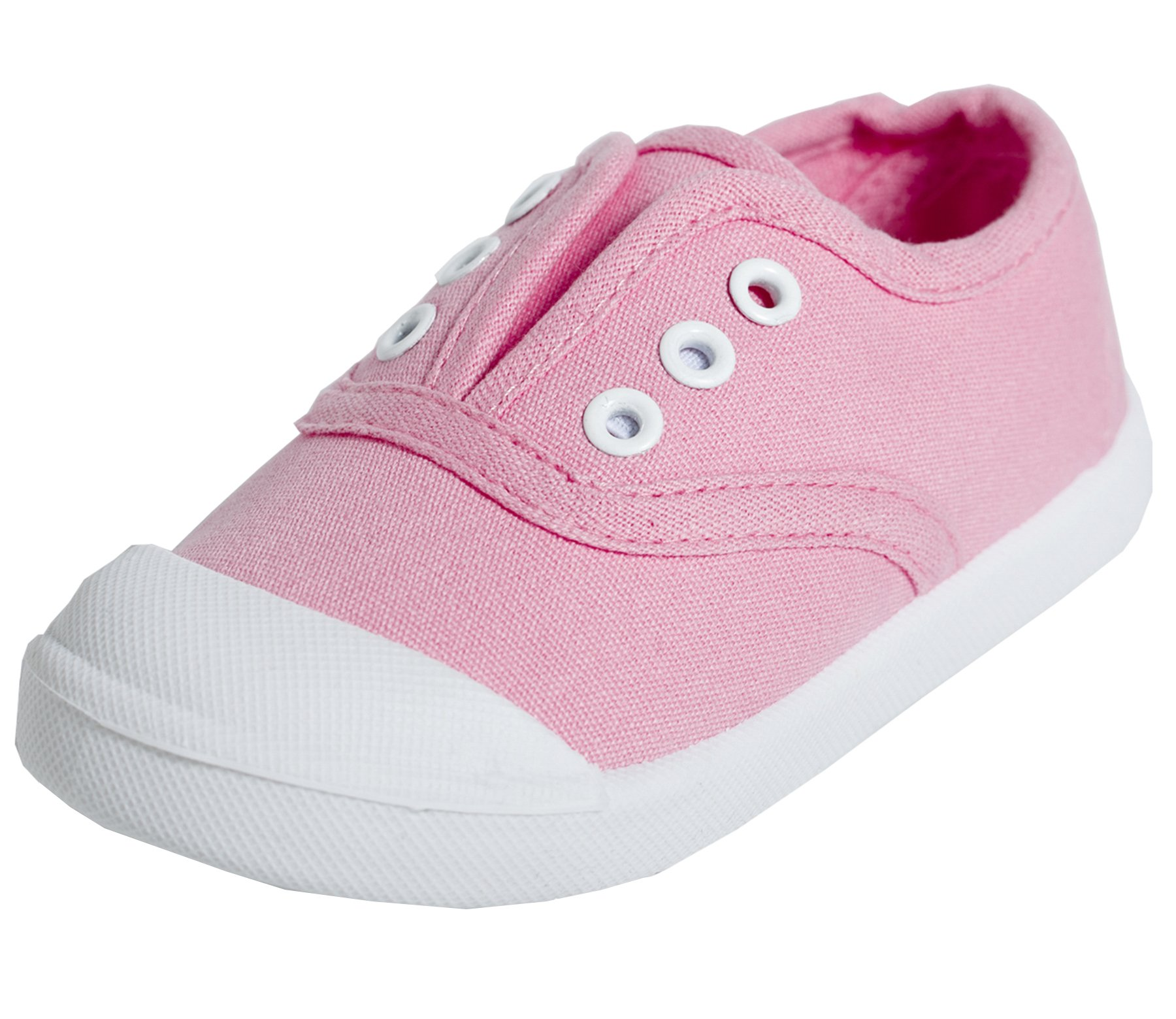 Kikiz Candy Color Kids Toddler Canvas Sneaker Boys Girls Casual Shoes Pink