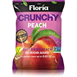 REV-Dried Peach Fruit Crisps, Healthy on-the-go Snack, 0.63 Ounce Single Serve Bags (Pack of 10), Real Crunchy Peach Fruit, 1