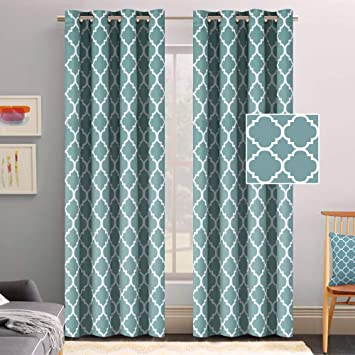 Flamingo P Thermal Insulated Blackout Curtains Living Room Curtains 2 Panel  Sets Window Curtains 96 inch Length Energy Efficient Grommet Window ...