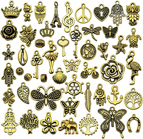 100pcs Star Pendant Findings DIY Crafts Jewelry Making Charms Accessory