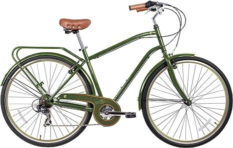 Gama Bikes Bicicleta Urbana híbrida de 7 velocidades para Hombre ...