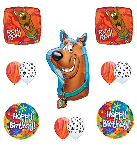 Mayflower Products Scooby Doo 2nd Birthday Party Supplies Balloon Bouquet
