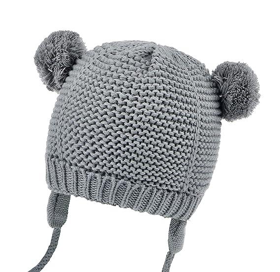 6b459c6d3 Joyingtwo Soft Warm Knit Todder Cute Bear Baby Beanie Hat with Ear Flap