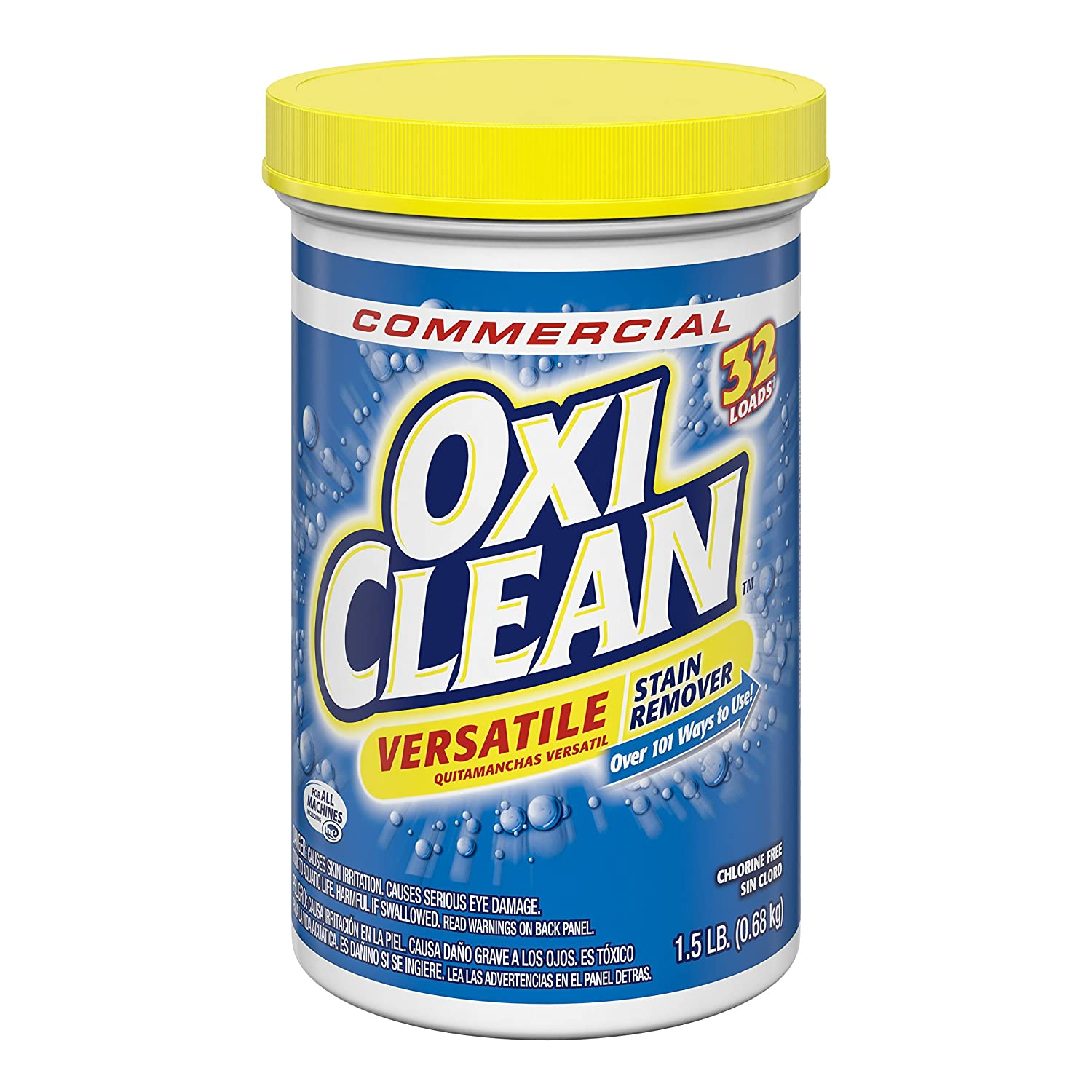Amazon.com: Oxiclean 57037-01211 Versatile Stain Remover 1.5lb, 32 Loads (Pack of 12): Industrial & Scientific