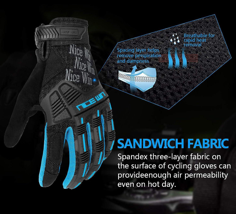 Kansoom Gants-Cyclisme Protection-Respirant antid/érapage-Coussin Gel-Silicone Adapt/é pour Le Cyclisme Intensif Le V/élo de Montagne Les Courses de Locomotives