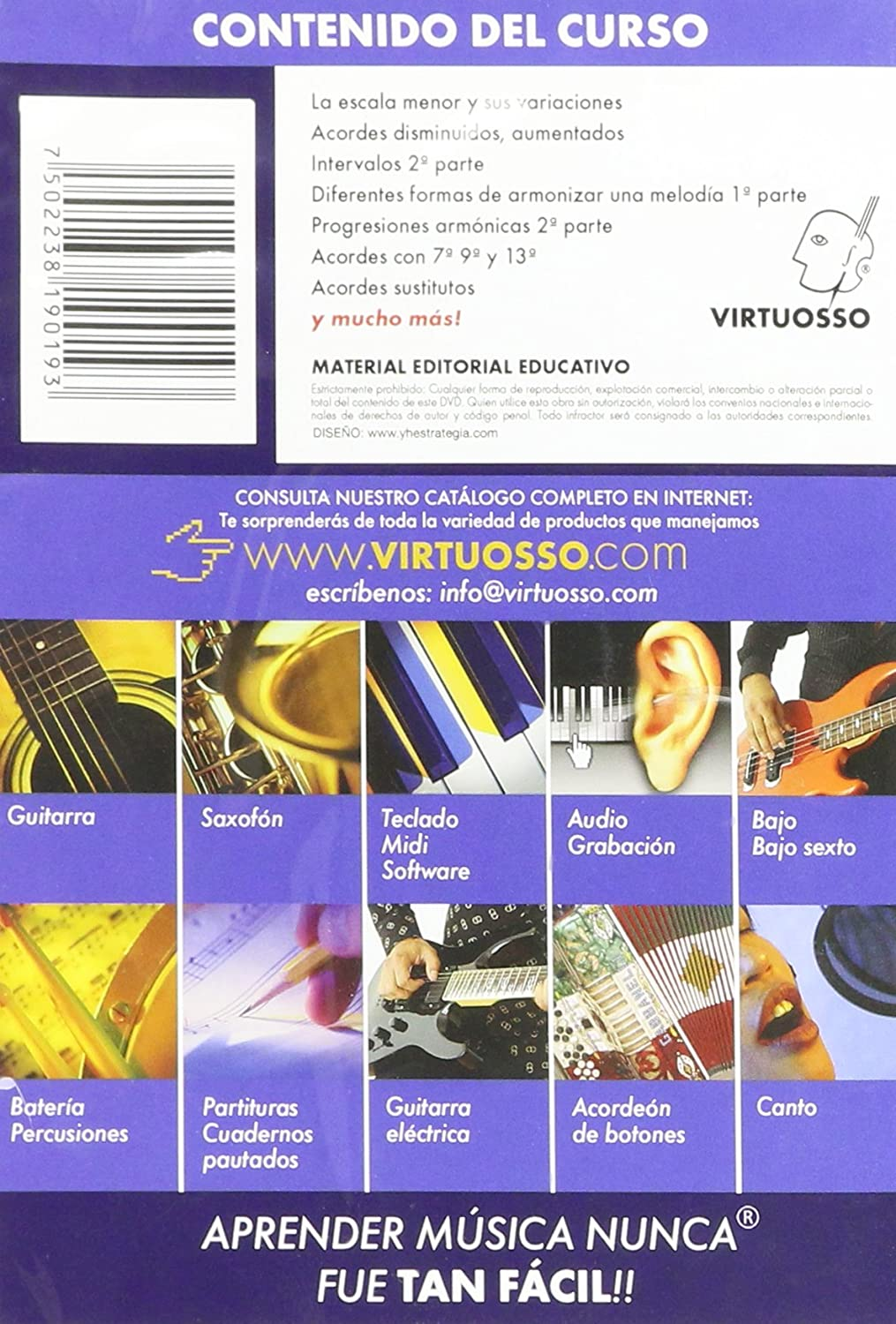 Amazon.com: Virtuosso Harmony Method for Musical Keyboard Vol.2 (Curso De Armonía En Teclado Vol.2) SPANISH ONLY: Musical Instruments