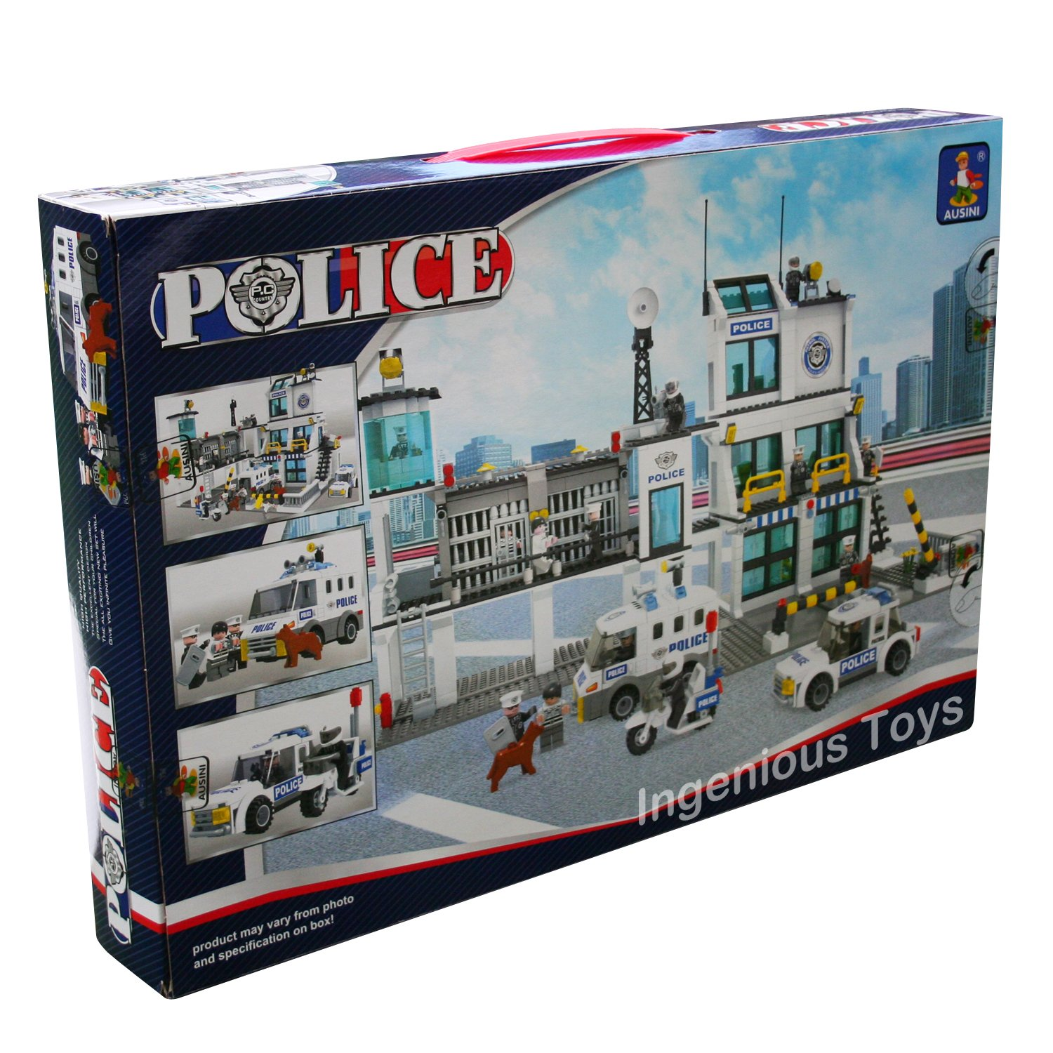 Extra large Police Station Vehicles Prison Cells fig City 1227pcs NEW  #23110: Amazon.co.uk: Toys & Games