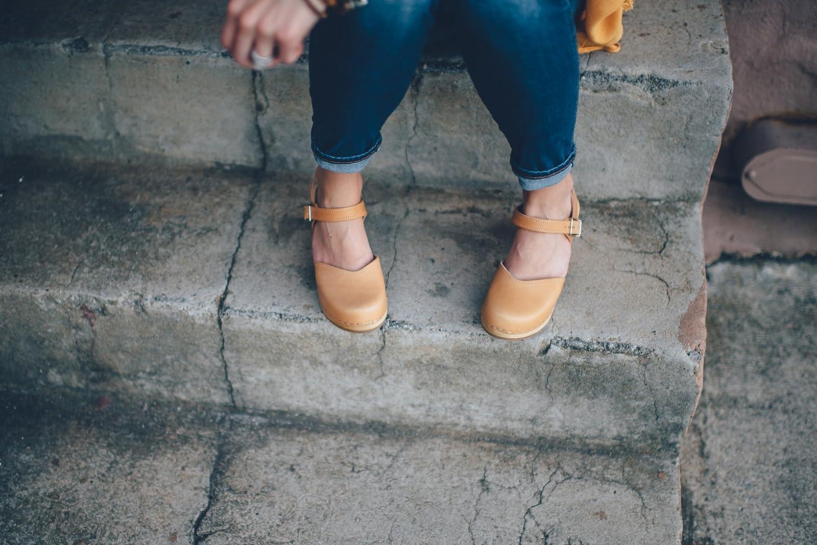 Sandgrens Swedish Wooden High Heel Clog Sandals - 4