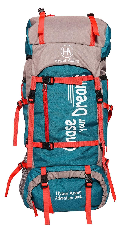 Buy Hyper Adam 65 L Rucksack Hiking Backpack Trekking Bag Camping Bag Travel Backpack Outdoor Sport Rucksack Bag 65 Ltrs Sea Green At Amazon In