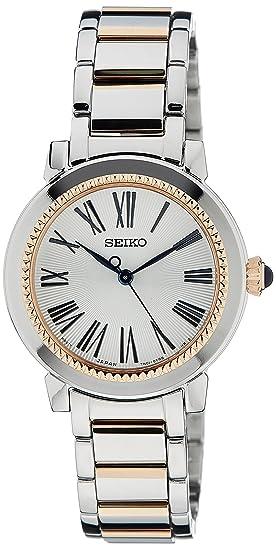 Seiko Reloj Analógico para Mujer de Cuarzo con Correa en Acero Inoxidable SRZ448P1: Amazon.es: Relojes