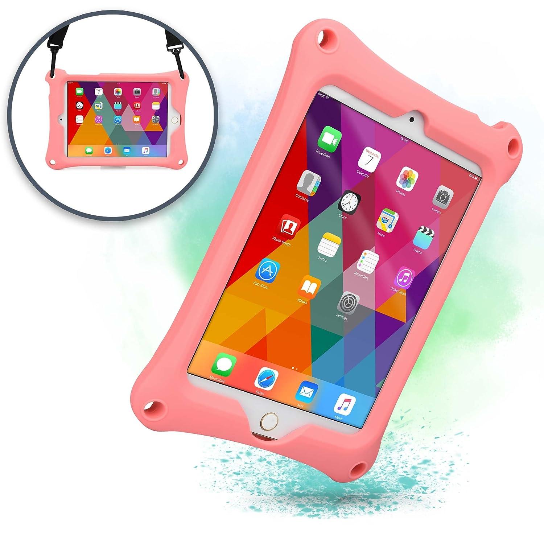 0cbaed390361 ... ケース 【 iPad mini4 / mini3 / mini2 / mini 】 子供 ショルダー ハンド ストラップ スタンド シリコン  (ピンク) | Cooper Cases | タブレットPCバッグ 通販